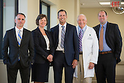 The Good Samaritan Hospital executive team poses for a portrait at Good Samaritan Hospital in San Jose, California, on October 12, 2015. (Stan Olszewski/SOSKIphoto)