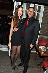SAM NAZARIAN and EMINA CUNMULAJ at the 39th birthday party for Nick Candy in association with Ciroc Vodka held at 5 Cavindish Square, London on 21st Januatu 2012.