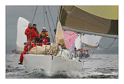 Yachting- The last days racing  of the Bell Lawrie Scottish series 2003 at Tarbert Loch Fyne.  Damp grey skies and light winds decided the final results in most fleets...Animula, Duncan Grant's Titan 36 in Class two..Pics Marc Turner / PFM