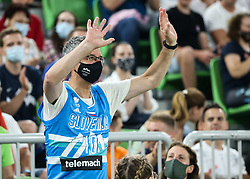 Rajmond Debevec during friendly basketball match between National teams of Slovenia and Croatia, on June 18, 2021 in Arena Stozice, Ljubljana, Slovenia. Photo by Vid Ponikvar / Sportida
