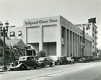 1936 Hollywood Citizen News building on Wilcox. Ave, just north of Sunset Blvd.
