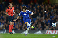 Oscar of Chelsea taking a free kick. UEFA Champions League group G match, Chelsea v Maccabi Tel Aviv at Stamford Bridge in London on Wednesday 16th September 2015.<br /> pic by John Patrick Fletcher, Andrew Orchard sports photography.