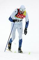 OL 2006 Langrenn menn 15km,<br />Pragelato Plan<br />17.02.06 <br />Foto: Sigbjørn Hofsmo, Digitalsport <br /><br />Andrus Veerpalu EST Estland