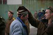 """Before work outside the territory the patients of Medical labour Pansionate N1 in Svetlogors, Belarus, are strictly examined. .Medical Labour pansionates in Belarus are the only remains of """"Punitive Medicine"""" system of Soviet Union. The alcohol addicted are put in these places by force for 2 years as a rule. Compulsory tretment consists of hard labour, strict regime and sometimes herbal potion."""