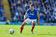Portsmouth Midfielder, Gareth Evans (26) during the EFL Sky Bet League 2 match between Portsmouth and Cambridge United at Fratton Park, Portsmouth, England on 22 April 2017. Photo by Adam Rivers.