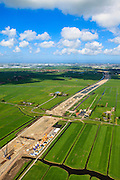 Nederland, Zuid-Holland, Midden-Delfland, 09-05-2013; aanleg A4 Midden-Delfland door  Polder Vockestaert. Delft en Den Haag aan de horizon...QQQ.luchtfoto (toeslag op standard tarieven).aerial photo (additional fee required).copyright foto/photo Siebe Swart