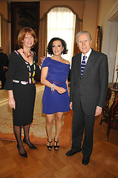 Left to right, SANDRA ARAGONA, NANCY DELL'OLIO and The Italian ambassador GIANCARLO ARAGONA at a party to celebrate the publication of Nancy Dell'Olio's book 'My Beautiful Game' held at the Italian Embassy, Grosvenor Square, London on 17th April 2008.<br /><br />NON EXCLUSIVE - WORLD RIGHTS