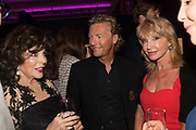 JOAN COLLINS; WARREN TODD; SUE VANNER,, Bonhams host a private view for their  forthcoming auction: Jackie Collins- A Life in Chapters' Bonhams, New Bond St.  3 May 2017.