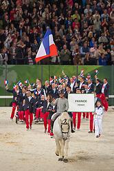 Team FRA - Opening Ceremony - Alltech FEI World Equestrian Games™ 2014 - Normandy, France.<br /> © Hippo Foto Team - Jon Stroud<br /> 24/06/14