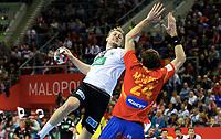 Håndball 31. januar 2016, EM , finale , herrer , Spania - Tyskland<br /> v.l. Julius Kuhn (Tyskaland ), Morros de Agila<br /> <br /> Norway only