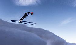 21.02.2019, Bergiselschanze, Innsbruck, AUT, FIS Weltmeisterschaften Ski Nordisch, Seefeld 2019, Nordische Kombination, Skisprung, Training, im Bild Fabian Riessle (GER) // Fabian Riessle of Germany during a training of Ski Jumping competition for Nordic Combined of FIS Nordic Ski World Championships 2019. Bergiselschanze in Innsbruck, Austria on 2019/02/21. EXPA Pictures © 2019, PhotoCredit: EXPA/ JFK