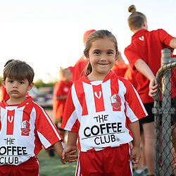 BRISBANE, AUSTRALIA - FEBRUARY 17:  during the NPL Queensland Senior Mens Round 3 match between Olympic FC and Western Pride at Goodwin Park on February 17, 2018 in Brisbane, Australia. (Photo by Patrick Kearney)