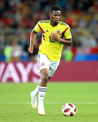 Colombia's Jefferson Lerma during the FIFA World Cup 2018, round of 16 match at the Spartak Stadium, Moscow. PRESS ASSOCIATION Photo. Picture date: Tuesday July 3, 2018. See PA story WORLDCUP England. Photo credit should read: Adam Davy/PA Wire. RESTRICTIONS: Editorial use only. No commercial use. No use with any unofficial 3rd party logos. No manipulation of images. No video emulation