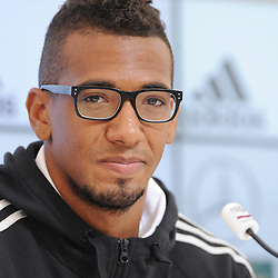 29.05.2014, Teamcamp, St. Martin Passeiertal, ITA, FIFA WM, Vorbereitung Deutschland, Presseconferenz, im Bild Jerome Boateng (FC Bayern Muenchen) // during a press conference the Trainingscamp of Team Germany for Preparation of the FIFA Worldcup Brasil 2014 at the Teamcamp in St. Martin Passeiertal, Italy on 2014/05/29. EXPA Pictures © 2014, PhotoCredit: EXPA/ Eibner-Pressefoto/ Stuetzle<br /> <br /> *****ATTENTION - OUT of GER*****