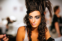 Emina Cunmulaj Backstage at Christian Lacroix Couture Fall 2007