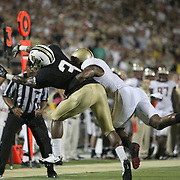 Central Florida wide receiver A.J. Guyton (3) can't make the catch during an NCAA football game between the Boston College Eagles and the UCF Knights at Bright House Networks Stadium on Saturday, September 10, 2011 in Orlando, Florida. (AP Photo/Alex Menendez)