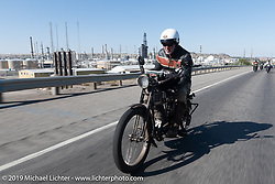 Dean Bordigioni with his single-cylinder single-speed 1914 Harley-Davidson on the Motorcycle Cannonball coast to coast vintage run. Stage 10 (299 miles) from Sturgis, SD to Billings, MT. Tuesday September 18, 2018. Photography ©2018 Michael Lichter.