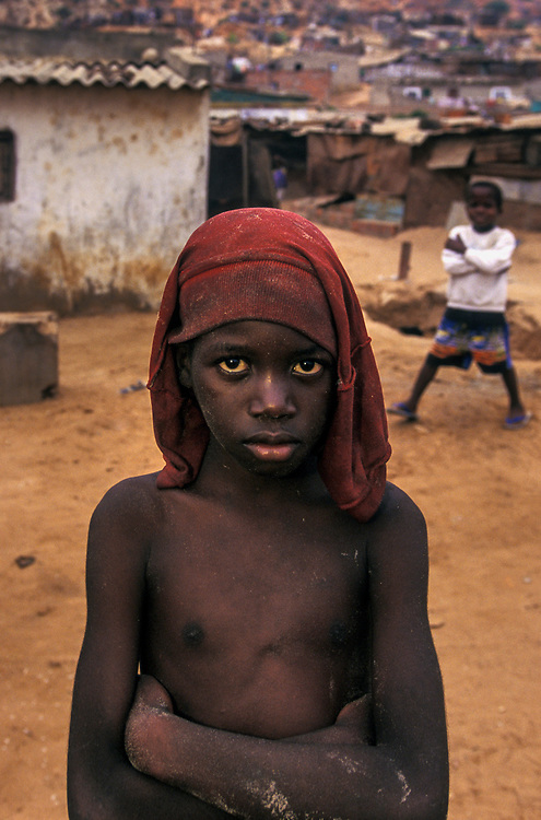 IDP boy in camp, Luanda, Angola
