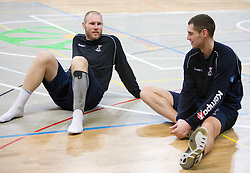 Ales Pajovic and Nenad Bilbija at Open training session for the public of Slovenian handball National Men team before European Championships Austria 2010, on December 27, 2009, in Terme Olimia, Podcetrtek, Slovenia.  (Photo by Vid Ponikvar / Sportida)