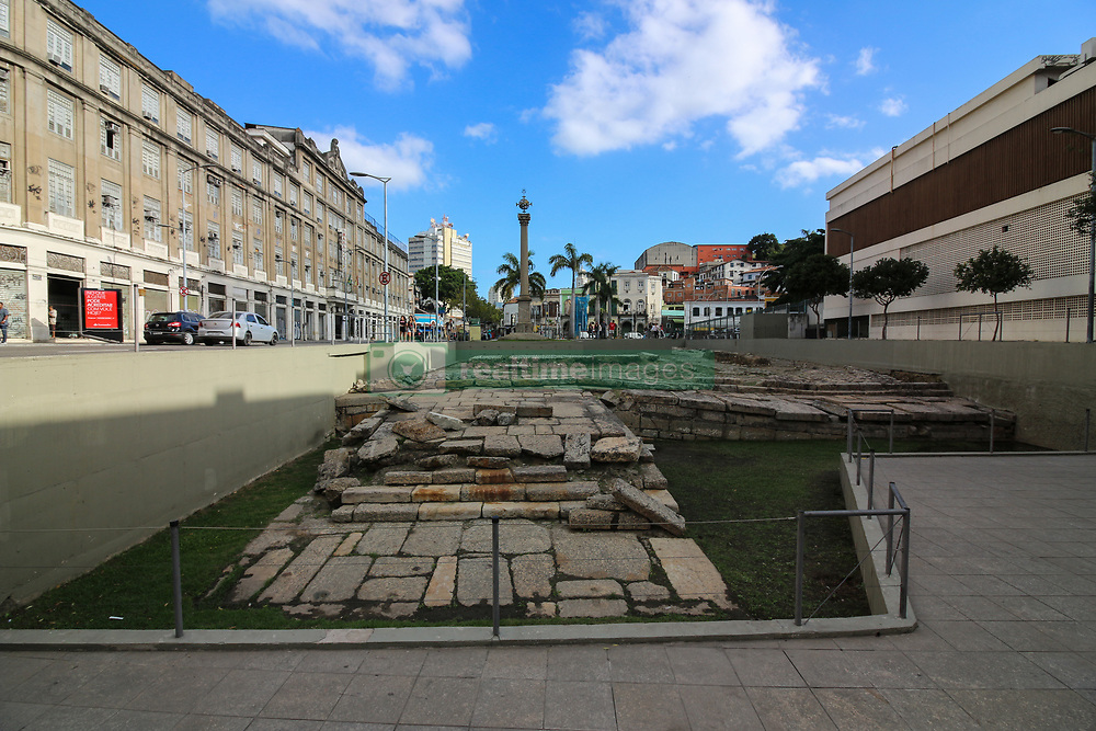 July 29, 2017 - Rio De Janeiro, Brazil - Rio de Janeiro, Brazil, July 29, 2017: Cais do Valongo (Valongo Wharf), an archaeological site recognized by Unesco as a World Heritage Site. The site was the largest port of landing of slaves in the Americas. It is estimated that approximately 1 million people landed in the port of slave ships that operated between the years of 1811 and 1831, when it was closed and turned into the Empress Pier. The place is in the port region of Rio and is open to visitation. (Credit Image: © Luiz Souza/NurPhoto via ZUMA Press)