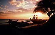 Couple at sunset, Kohala Coast, Big Island of Hawaii