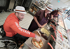 Sainsbury's Store with Paralympic archer Nathan McQueen, Livingston, Scotland, 26 September 2019