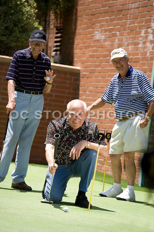 Retired Senior Men Golfing
