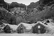 Sod barns - south coast of Iceland