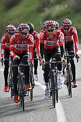 December 15, 2017 - Majorca, SPAIN - Polish Tomasz Marczynski of Lotto Soudal and Belgian Tim Wellens of Lotto Soudal pictured in action during a press day during Lotto-Soudal cycling team stage in Mallorca, Spain, ahead of the new cycling season, Friday 15 December 2017. BELGA PHOTO DIRK WAEM (Credit Image: © Dirk Waem/Belga via ZUMA Press)