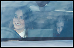 December 18, 2019, London, London, United Kingdom: Image licensed to i-Images Picture Agency. 18/12/2019. London, United Kingdom. The Duchess of Cambridge driving at The Queen's Christmas Party at Buckingham Palace in London with Princess Charlotte  in the back seat. (Credit Image: © Stephen Lock/i-Images via ZUMA Press)