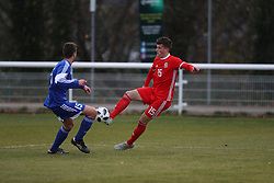 BANGOR, WALES - Tuesday, November 20, 2018: Wales' Jack Vale during the UEFA Under-19 Championship 2019 Qualifying Group 4 match between Wales and San Marino at the Nantporth Stadium. (Pic by Paul Greenwood/Propaganda)