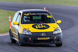 Christopher Noah pictured competing in the 750 Motor Club's Clio 182 Championship. Image captured at Snetterton on July 18, 2020 by 750 Motor Club's photographer Jonathan Elsey