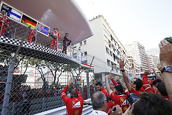 May 28, 2017 - Monte Carlo, Monaco - Motorsports: FIA Formula One World Championship 2017, Grand Prix of Monaco, .#7 Kimi Raikkonen (FIN, Scuderia Ferrari), #5 Sebastian Vettel (GER, Scuderia Ferrari), #3 Daniel Ricciardo (AUS, Red Bull Racing) (Credit Image: © Hoch Zwei via ZUMA Wire)