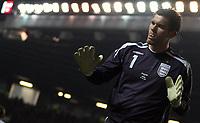 Photo: Paul Thomas.<br /> England v Spain. International Friendly. 07/02/2007.<br /> <br /> Ben Foster of England.