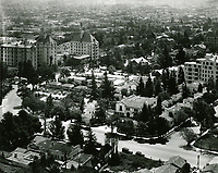 1937 Aerial of Garden of Allah Hotel on Sunset Blvd. in West Hollywood