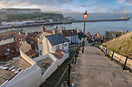 Series: By The Sea - Whitby 2006 by Paul Williams of the 101 steps looking over the old town and harbour .<br /> <br /> Visit our REPORTAGE & STREET PEOPLE PHOTO ART PRINT COLLECTIONS for more wall art photos to browse https://funkystock.photoshelter.com/gallery-collection/People-Photo-art-Prints-by-Photographer-Paul-Williams/C0000g1LA1LacMD8