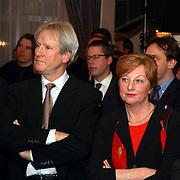 Uitreiking Omroepman van het jaar, Gert-Jan Wolffensberger en vrouw