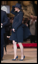 March 12, 2018 - London, London, United Kingdom - Image licensed to i-Images Picture Agency. 12/03/2018. London, United Kingdom. The Duchess of Cambridge  leaving the Commonwealth Day Service at Westminster Abbey in London. (Credit Image: © Stephen Lock/i-Images via ZUMA Press)