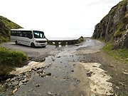 A tour bus crosses the stream at the Devil's Elbow on Slea Head.<br /> Picture by Don MacMonagle<br /> Picture by Don MacMonagle -macmonagle.com