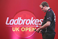 David Evans during the Ladbrokes UK Open at Stadium:MK, Milton Keynes, England. UK on 5 March 2021.