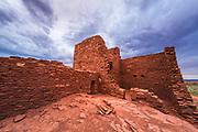 Approaching storm over Wukoki Ruin, Wupatki National Monument, Arizona