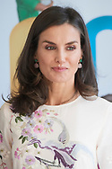 Queen Letizia of Spain attends 'World Mental Health Day 2019' at La Latina Theatre on October 9, 2019 in Madrid, Spain