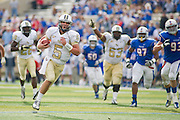 Dec 1, 2012; Tulsa, Ok, USA; University of Central Florida Knights quarterback Blake Bortles (5) runs the ball for a touchdown during a game against the Tulsa Hurricanes at Skelly Field at H.A. Chapman Stadium. Tulsa defeated UCF 33-27 in overtime to win the CUSA Championship. Mandatory Credit: Beth Hall-USA TODAY Sports