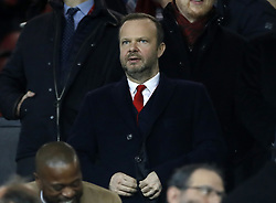 Chief Executive of Manchester United Ed Woodward during the UEFA Champions League round of 16, first leg match at Old Trafford, Manchester.