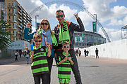 Forest Green Rovers supporters on Wembley Way during the Vanarama National League Play Off Final match between Tranmere Rovers and Forest Green Rovers at Wembley Stadium, London, England on 14 May 2017. Photo by Shane Healey.
