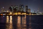 Night skyline in Honolulu