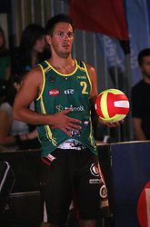 Matevz Berk (Tadeja Brankovic Sport Team) at qualifications for 14th National Championship of Slovenia in Beach Volleyball and also 4th tournament of series TUSMOBIL LG presented by Nestea, on July 25, 2008, in Kranj, Slovenija. (Photo by Vid Ponikvar / Sportal Images)/ Sportida)