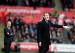 SWANSEA, WALES - Saturday, January 14, 2017: Swansea City's manager Paul Clement  during the FA Premier League match at the Liberty Stadium against Arsenal. (Pic by Gwenno Davies/Propaganda)