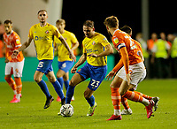 Football - 2021 / 2022 EFL Carabao Cup - Round Two - Blackpool vs. Sunderland -Bloomfield Road - Tuesday 24th August 2021<br /> <br /> Jack Diamond of Sunderland on the ball in midfield, at Bloomfield Road.<br /> <br /> COLORSPORT/Alan Martin
