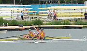 Eton Dorney, Windsor, Great Britain,<br /> <br /> 2012 London Olympic Regatta, Dorney Lake. Eton Rowing Centre, Berkshire[ Rowing].<br /> <br /> Description; Women's Pairs,  Gold Medalist Helen GLOVER and Heather STANNING. GBR W2-   Dorney Lake.<br /> <br /> 11:58:12  Wednesday  01/08/2012<br /> <br /> [Mandatory Credit: Peter Spurrier/Intersport Images]
